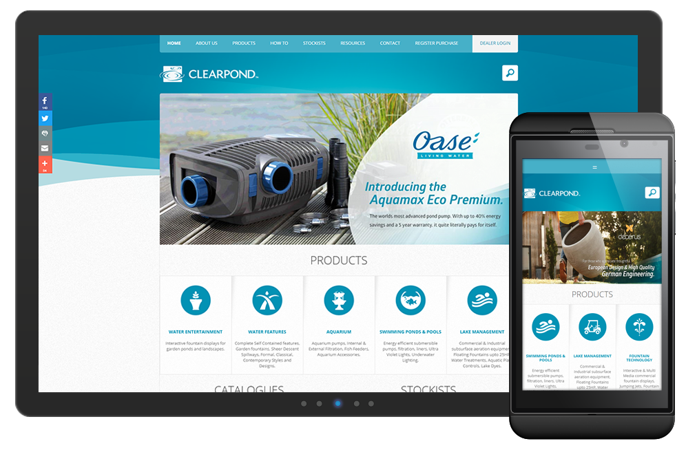 The Clearpond website is a successful online solution partly due to the IBC Digital marketing services