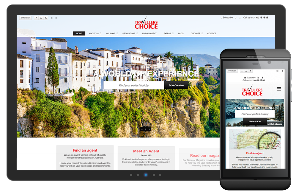 Travellers Choice website is powered by Verdi CMS, proudly Western Australian owned and developed content management system.