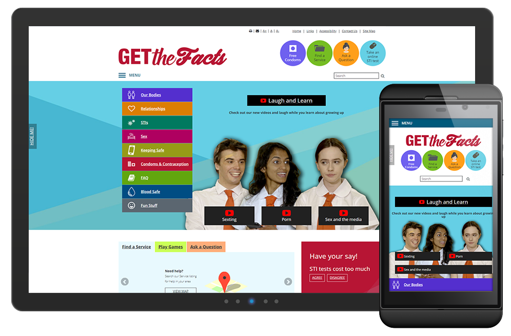 Get the Facts was developed by the Sexual Health and Blood-borne Virus Program (SHBBVP), Department of Health WA.